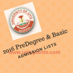 predegree and basic studies admission 2016